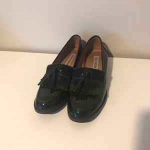 Steve Madden Black Patent Classic Loafers